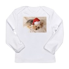 Santa Yorkie - Long Sleeve Infant T-Shirt