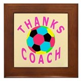 Soccer Coach Thank You Framed Tile