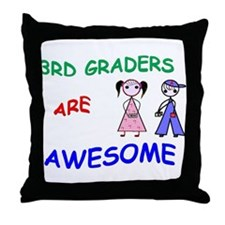 3RD GRADERS ARE AWESOME Throw Pillow