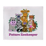 Future Zookeeper Girl Throw Blanket