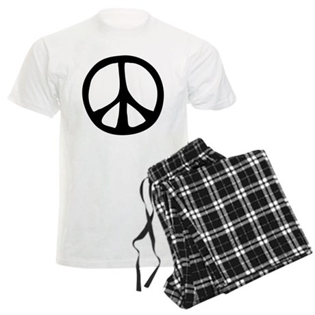 Flowing Peace Sign Men's Light Pajamas