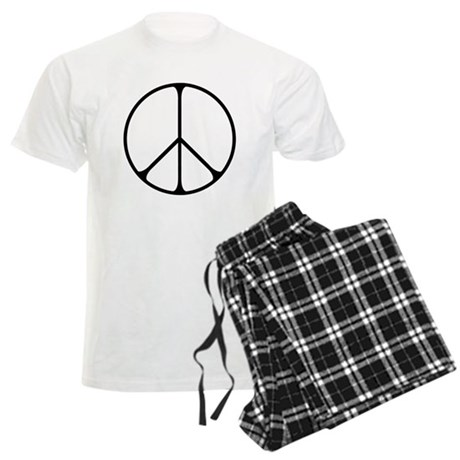 Elegant Peace Sign Men's Light Pajamas