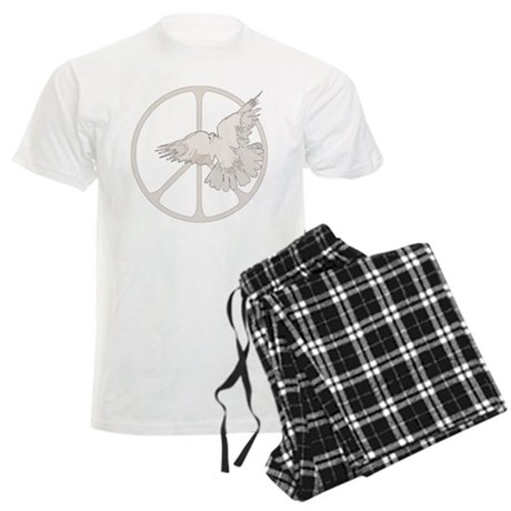 Peace Sign Dove Men's Light Pajamas