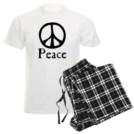 Flowing 'Peace' Sign Men's Light Pajamas