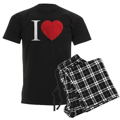I LOVE (Heart) Men's Dark Pajamas