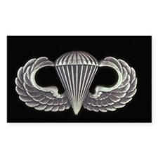 Airborne Wings Rectangle Decal