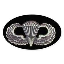 Airborne Wings Oval Decal