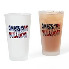 AMERICAN BULLDOG FLAG Drinking Glass