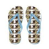 Wheaten Terrier Cartoon Flip Flops