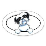 B/W Shih Tzu Peeking Decal