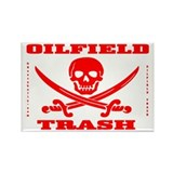 Oil Field Trash,Skull Rectangle Magnet,Oil.Rig