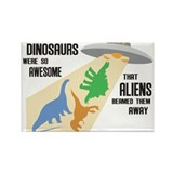 Funny Dinosaur Rectangle Magnet