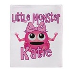 Little Monster Katie Throw Blanket