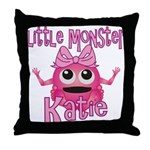 Little Monster Katie Throw Pillow