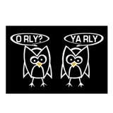 O RLY? YA RLY. Postcards (Package of 8)