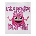 Little Monster Mariah Throw Blanket