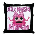 Little Monster Mariah Throw Pillow