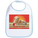 Golden Retriever Bib Heart/Red