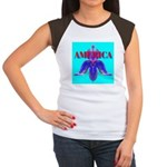 America Women's Cap Sleeve T-Shirt