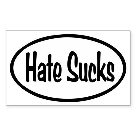 Hate Sucks Oval Sticker (Rectangle)