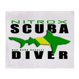 Scuba Diver: Nitrox Shark Throw Blanket