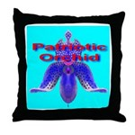 Patriotic Orchid Throw Pillow