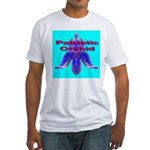 Patriotic Orchid Fitted T-Shirt