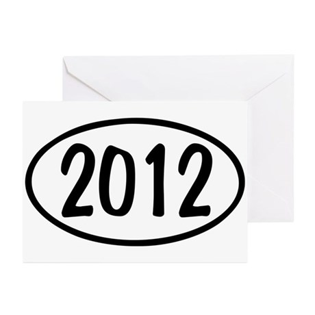 2012 Oval Greeting Cards (Pk of 10)