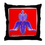 Americaorchidae patriotus Throw Pillow