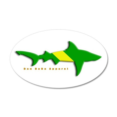 Shark Nitrox Diving Flag 22x14 Oval Wall Peel
