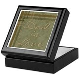 Dad is Love Keepsake Keepsake Box
