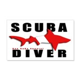 Scuba Diver: SHARK 22x14 Wall Peel