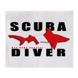 Scuba Diver: SHARK Throw Blanket