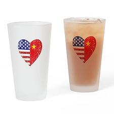 Family Heart Drinking Glass