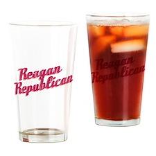 Reagan Republican (pink) Drinking Glass