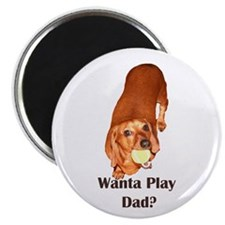 Wanta Play Dads Day Dachshund Dog Magnet