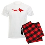 Shark Diving Flag pajamas