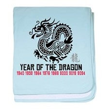 Chinese New Year of The Dragon baby blanket