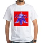 Cultivate Patriotism Blood Re White T-Shirt