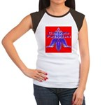 Cultivate Patriotism Blood Re Women's Cap Sleeve T