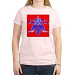 Cultivate Patriotism Blood Re Women's Pink T-Shirt