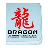 Chinese Astrology Dragon baby blanket