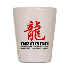 Chinese Astrology Dragon Shot Glass
