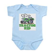 Green Tractor Kid Onesie