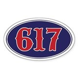 617 Boston Oval Decal