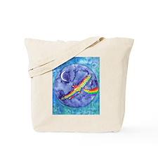 Rainbow Bird in Flight Tote Bag