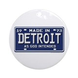 Made in Detroit Ornament (Round)