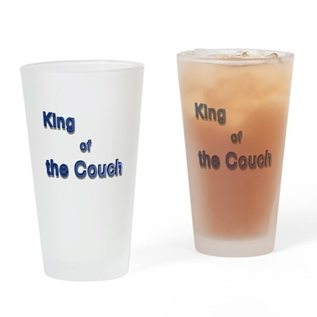 King of the Couch Drinking Glass