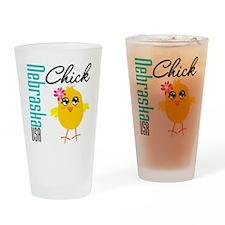 Nebraska Chick Drinking Glass