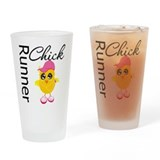Runner Chick Drinking Glass